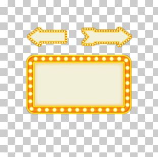 Square Yellow Light Board PNG