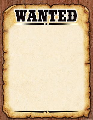Wanted Poster Template American Frontier PNG