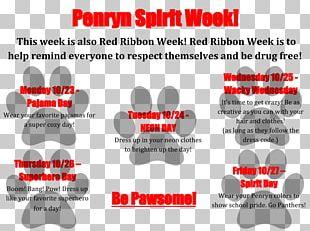 """Red Ribbon Week Spirit Days: """"Pajama Day"""" Brand PNG"""