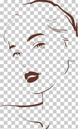 Drawing Woman Face Illustration PNG