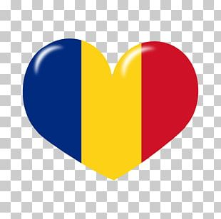 Flag Of Romania Tricolour Great Union Day Love PNG