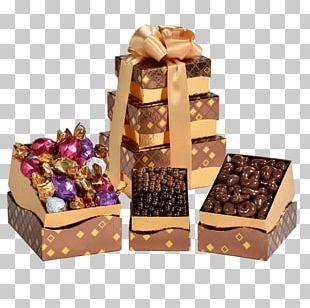 Fudge Food Gift Baskets Chocolate Truffle Praline PNG