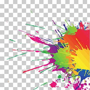 Watercolor Painting The Color Run PNG