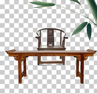 Table Chinoiserie Chair Furniture Fengmu PNG