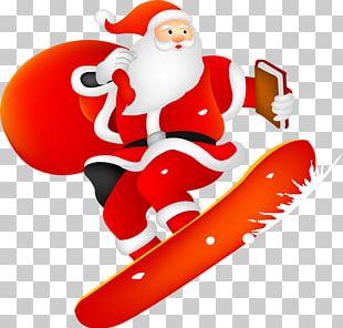 Santa Claus Christmas Card Ded Moroz Snegurochka PNG