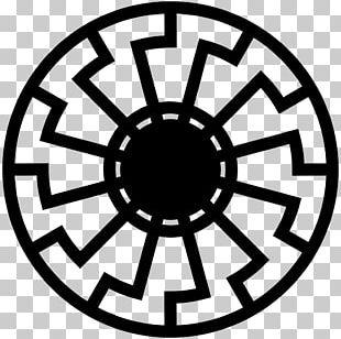 Black Sun Wewelsburg Solar Symbol PNG