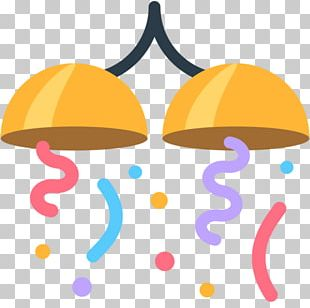 Emoji Confetti Party SMS PNG
