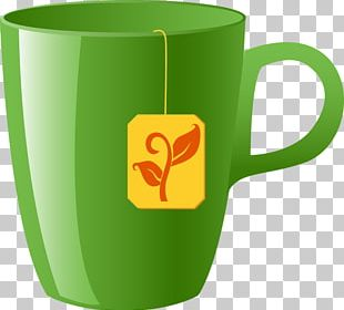 Green Tea Coffee Cup Mug Teacup PNG