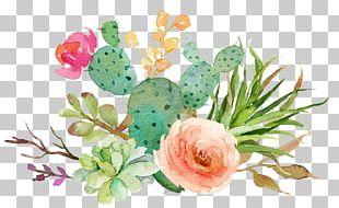 Wedding Invitation Paper Succulent Plant Watercolor Painting Cactaceae PNG