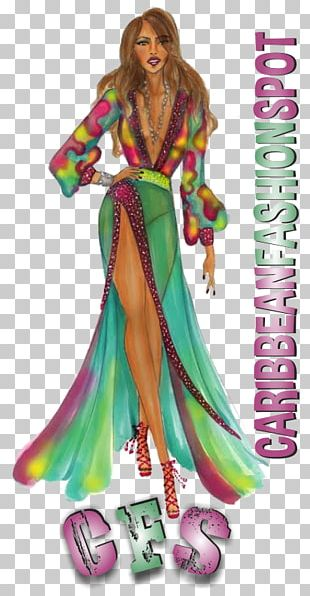 Fashion Illustration Costume Design Caribbean PNG