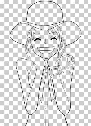 Nami Monkey D. Luffy Nico Robin Roronoa Zoro Line Art PNG