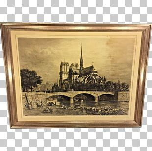 Notre-Dame De Paris Etching Chartres Cathedral Painting Printing PNG