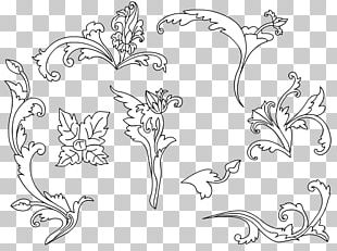 Wedding Invitation Batik Pattern Flower PNG