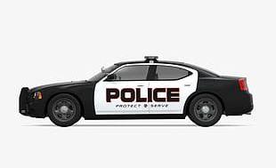 Black Police Car Side PNG