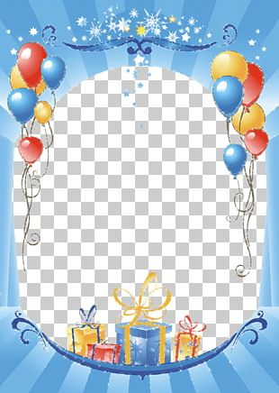 Paper Birthday Frame Balloon PNG