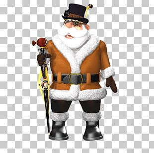 Santa Claus Christmas Ornament Poser DAS Productions Inc PNG