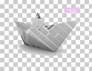 Newspaper Boat Newsprint Illustration PNG