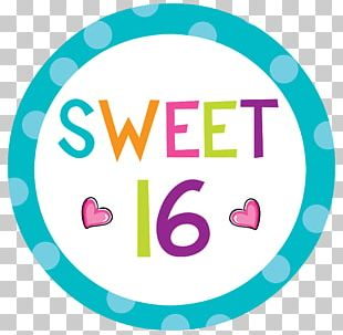 Sweet Sixteen Birthday Cake Party PNG