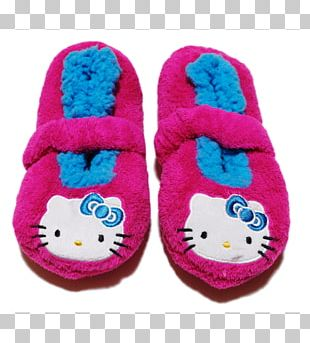 Slipper Flip-flops Shoe Magenta Wool PNG