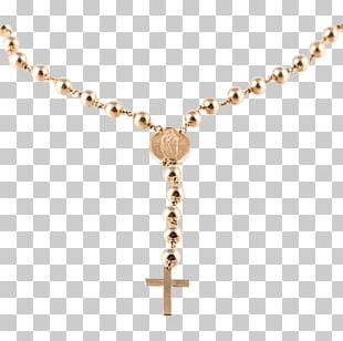 Gold-filled Jewelry Rosary Necklace Crucifix PNG