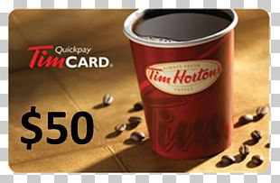 Tim Hortons Gift Card Coffee Canada PNG
