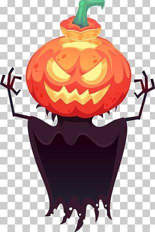 Pumpkin Ghosts Decorative Patterns PNG