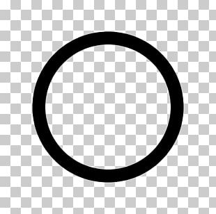 Black Circle Sign Symbol PNG