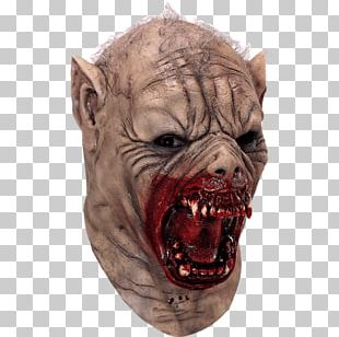 Latex Mask Werewolf Costume PNG