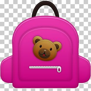 Pink Teddy Bear Snout Bag PNG