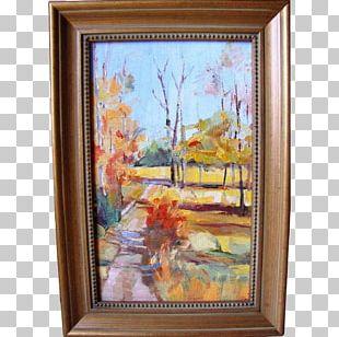 Still Life Oil Painting Paris Street; Rainy Day PNG