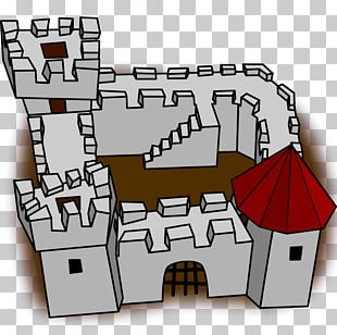 Cartoon Castle Fortification PNG