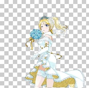 Contemporary Western Wedding Dress Eli Ayase PNG