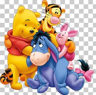 Winnie The Pooh Piglet Eeyore Roo Tigger PNG