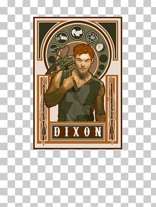 Daryl Dixon Art Nouveau Negan PNG