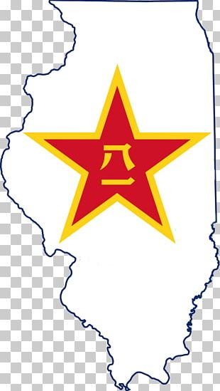 Flag And Seal Of Illinois Flag Of The United States Map PNG