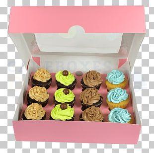 Petit Four Cupcake Window Box Bakery PNG