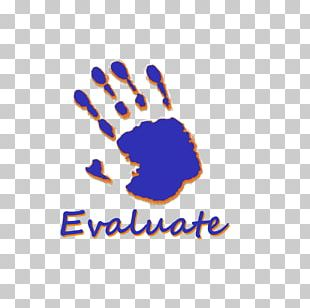 Logo Brand Cobalt Blue Finger Font PNG