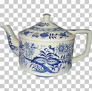 Kettle Blue And White Pottery Ceramic Cobalt Blue PNG