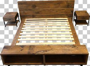 Bed Frame Platform Bed Table Reclaimed Lumber PNG