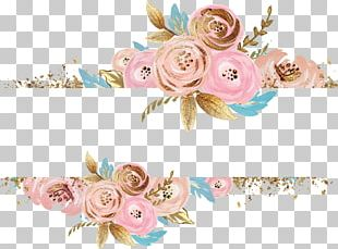 Paper Watercolor Painting Flower Gold PNG