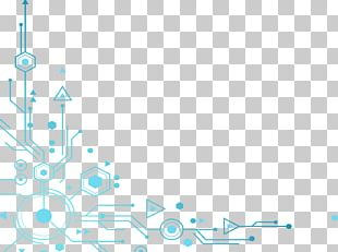 Blue Tech Elements Decoration PNG