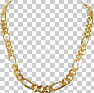 Figaro Chain Jewellery Chain Necklace Gold PNG