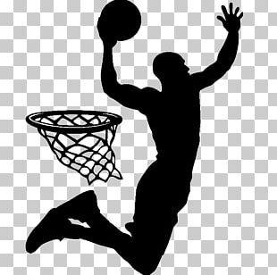 Slam Dunk Basketball Player Silhouette Sport PNG