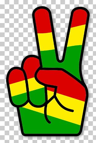 V Sign Rastafari Reggae Peace Symbols PNG