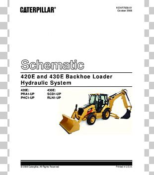 Caterpillar Inc. Wiring Diagram Backhoe Loader Electrical Switches PNG