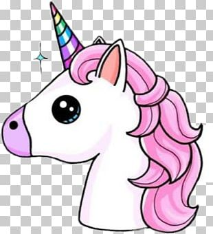 Unicorn Horn Drawing Kavaii Sticker PNG