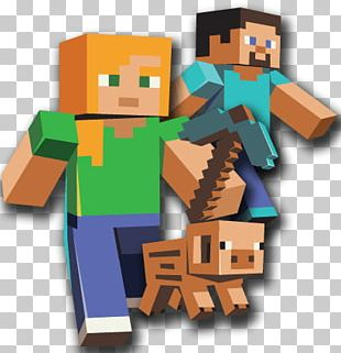 Three Characters Minecraft PNG