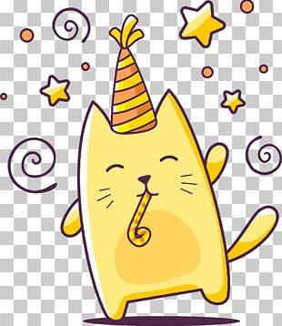 Cat Drawing Birthday PNG