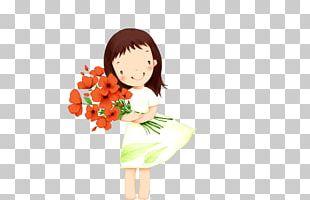 Cartoon Girl Illustration PNG