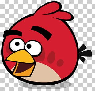 Angry Bird Red Smiling PNG